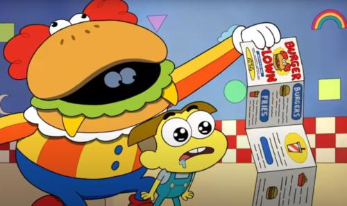 Burgs and Fries Burger Clown Song